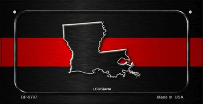 Louisiana Thin Red Line Novelty Bicycle License Plate BP-9707