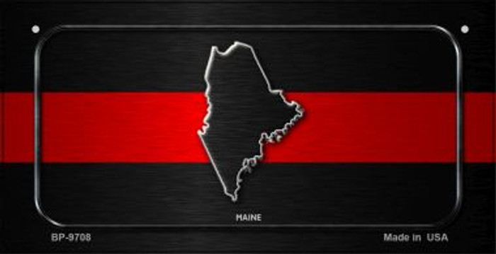 Maine Thin Red Line Novelty Bicycle License Plate BP-9708