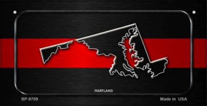Maryland Thin Red Line Novelty Bicycle License Plate BP-9709