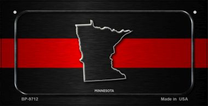 Minnesota Thin Red Line Novelty Bicycle License Plate BP-9712