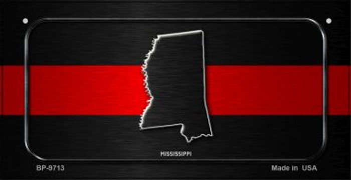 Mississippi Thin Red Line Novelty Bicycle License Plate BP-9713