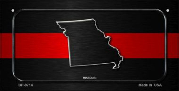 Missouri Thin Red Line Novelty Bicycle License Plate BP-9714