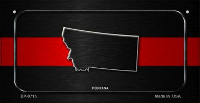 Montana Thin Red Line Novelty Bicycle License Plate BP-9715