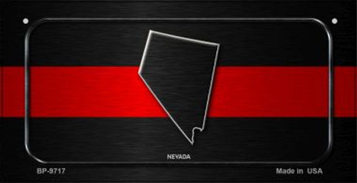 Nevada Thin Red Line Novelty Bicycle License Plate BP-9717