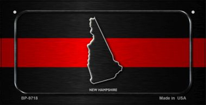 New Hampshire Thin Red Line Novelty Bicycle License Plate BP-9718