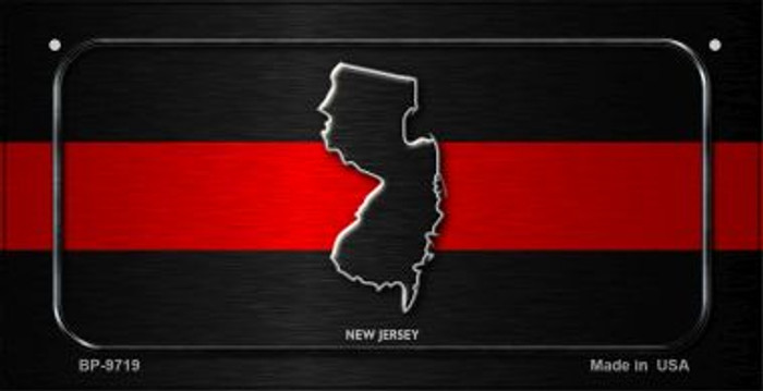 New Jersey Thin Red Line Novelty Bicycle License Plate BP-9719