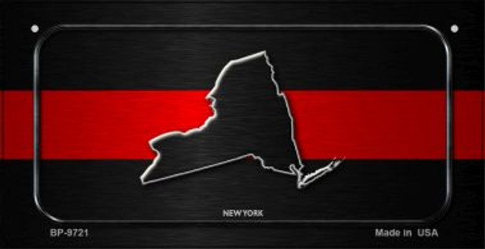 New York Thin Red Line Novelty Bicycle License Plate BP-9721