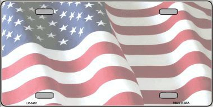 Faded Old Glory Background Metal Novelty License Plate LP-3462