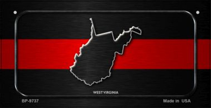 West Virginia Thin Red Line Novelty Bicycle License Plate BP-9737