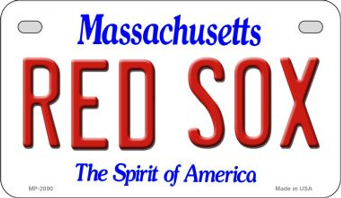Red Sox Massachusetts State Novelty Motorcycle License Plate MP-2090