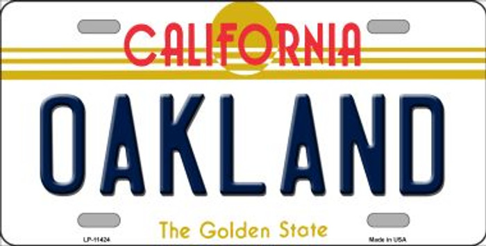 Oakland California Novelty License Plate LP-11424