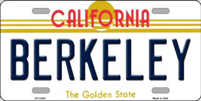 Berkeley California Novelty License Plate LP-11432