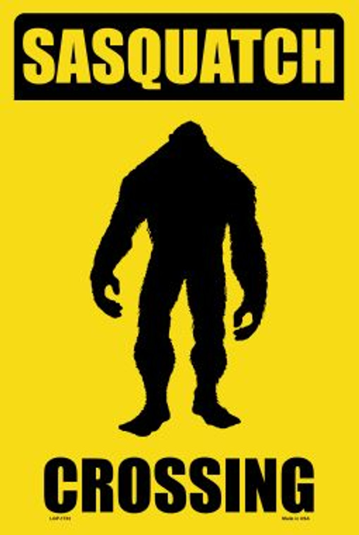 Sasquatch Crossing Novelty Large Parking Sign LGP-1733