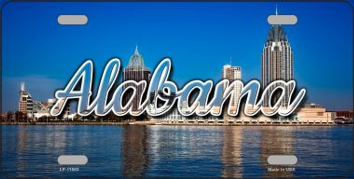 Alabama City Skyline State License Plate LP-11583