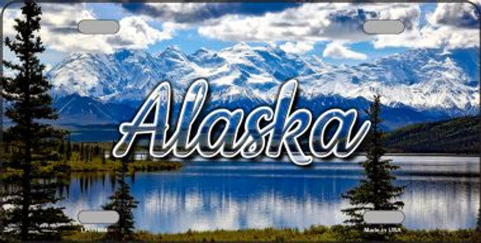 Alaska Snowy Mountains State License Plate LP-11584