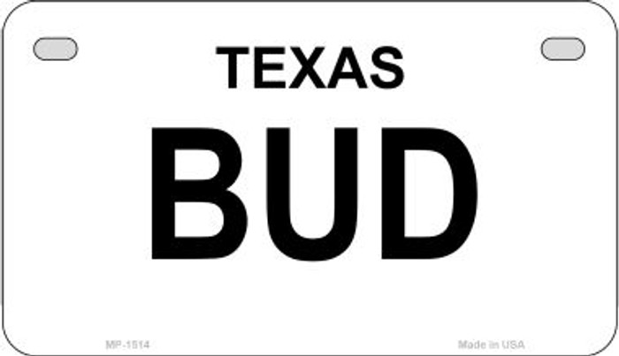 Bud Texas State Motorcycle License Plate MP-1514