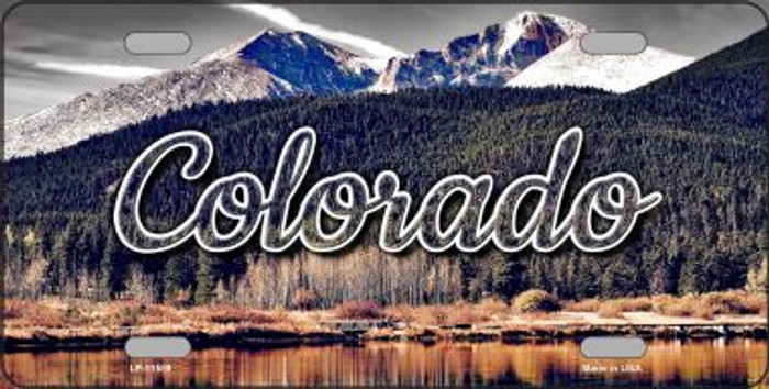 Colorado Forest and Mountains State License Plate LP-11589