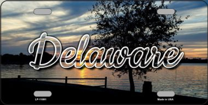 Delaware River Sunset State License Plate LP-11591