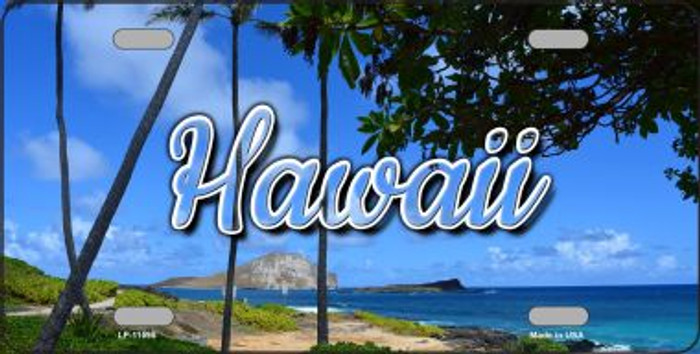 Hawaii Palm Trees State License Plate LP-11595