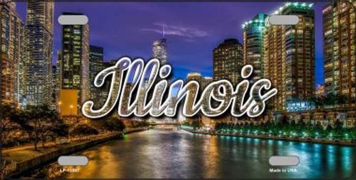 Illinois River City Lights State License Plate LP-11597