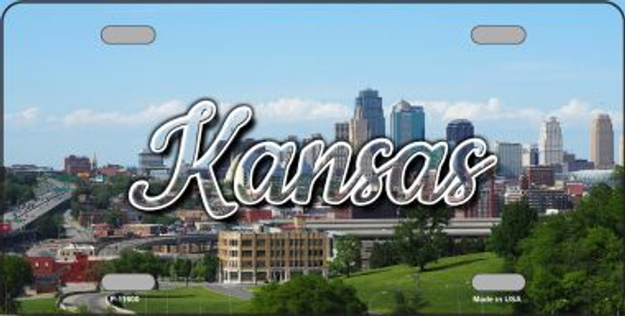Kansas Downtown Skyline State License Plate LP-11600