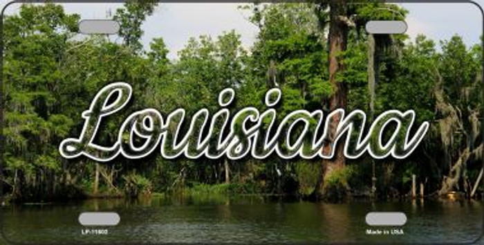 Louisiana Swamp State License Plate LP-11602