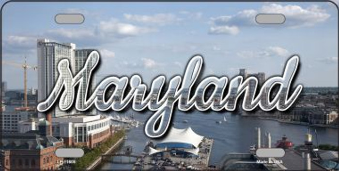 Maryland River Skyline State License Plate LP-11605