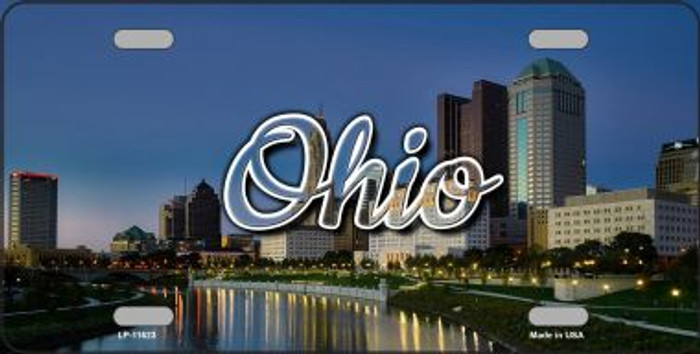 Ohio River City Skyline State License Plate LP-11623