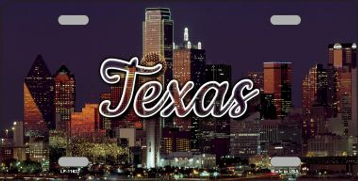 Texas City Lights Novelty Metal License Plate LP-11632