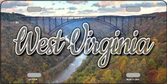 West Virginia River Bridge State License Plate LP-11639