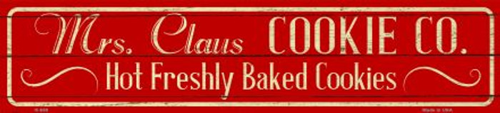 Mrs Claus Cookie Co Novelty Small Street Sign K-650