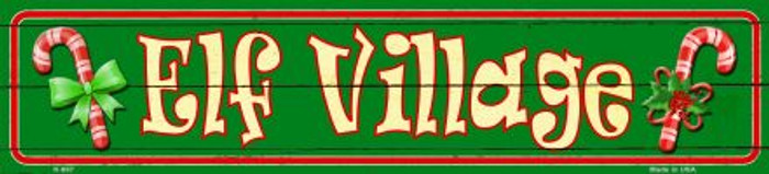 Elf Village Novelty Mini Street Sign K-657