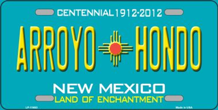 Arroyo Hondo Teal New Mexico Novelty License Plate LP-11653