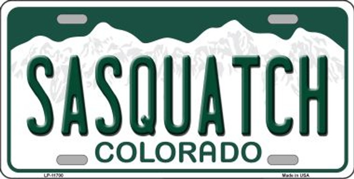 Sasquatch Colorado Background Wholesale Novelty License Plate LP-11700