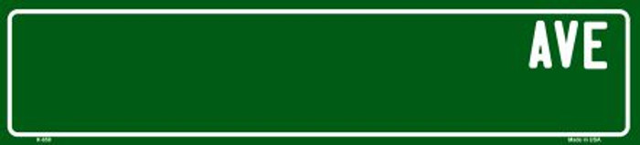 Green Avenue Blank Mini Street Sign K-658