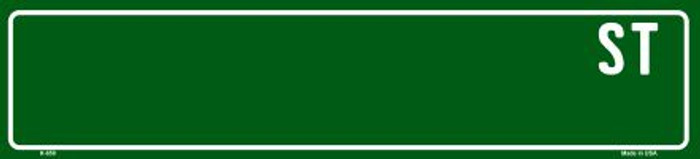 Green Street Blank Mini Street Sign K-659