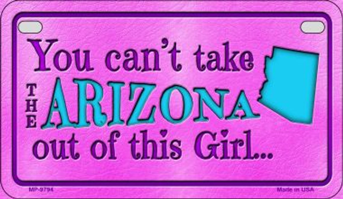 Arizona Girl Motorcycle License Plate MP-9794