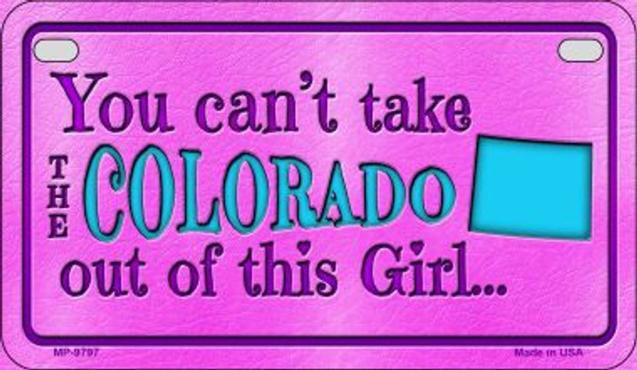Colorado Girl Motorcycle License Plate MP-9797
