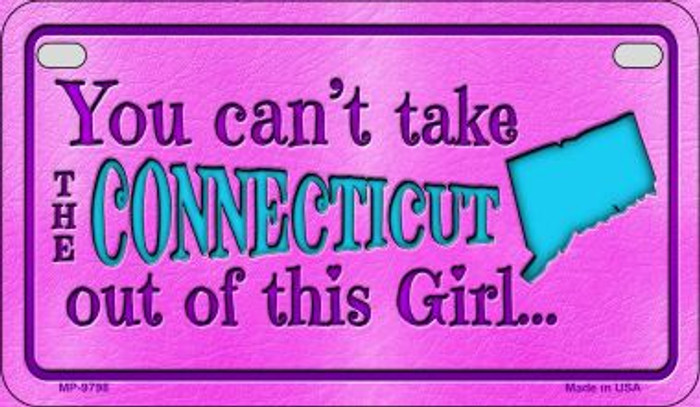 Connecticut Girl Motorcycle License Plate MP-9798
