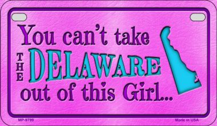 Delaware Girl Motorcycle License Plate MP-9799