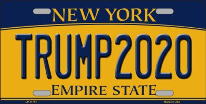 Trump 2020 New York Novelty Metal License Plate LP-11717