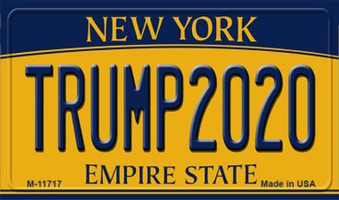 Trump 2020 New York Novelty Metal Magnet M-11717