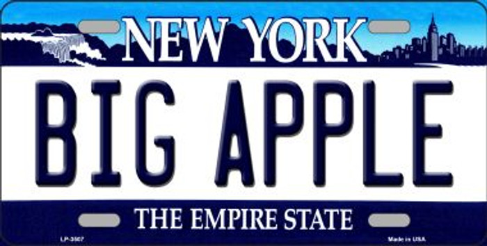 Big Apple New York Novelty Metal License Plate