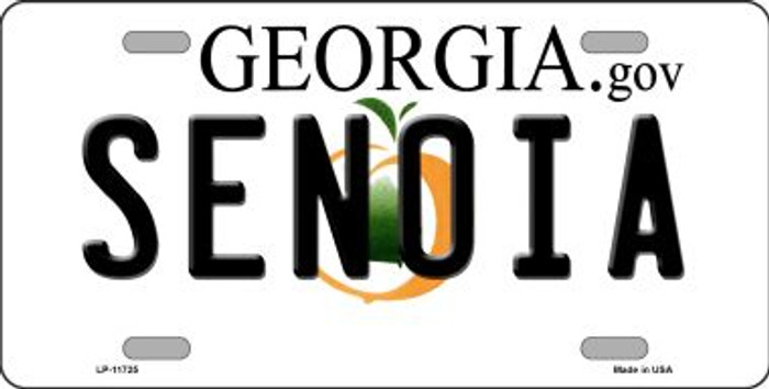 Senoia Georgia State Novelty License Plate LP-11725