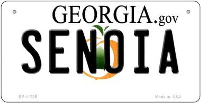Senoia Georgia State Novelty Bicycle Plate BP-11725