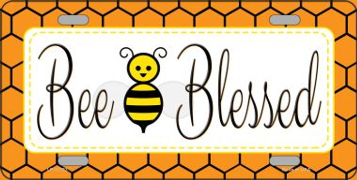 Welcome Bee Novelty License Plate LP-11721