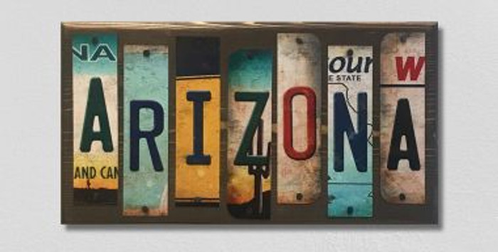 Arizona License Plate Strip Novelty Wood Sign WS-011