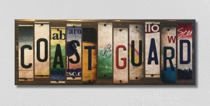 Coast Guard License Plate Strip Novelty Wood Sign WS-013