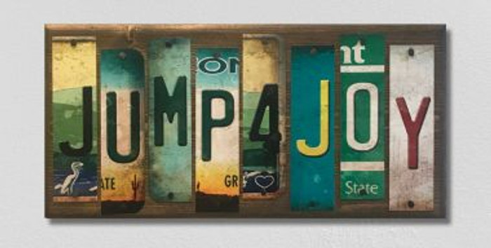 Jump 4 Joy License Plate Strip Novelty Wood Sign WS-046