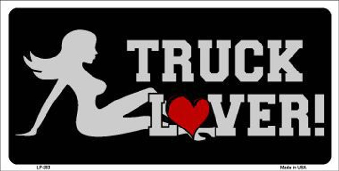 Truck Lover Girl Metal Novelty License Plate LP-353